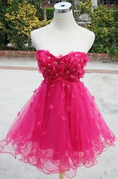 NWT ALEX & SOPKIA  Fuchsia Cocktail Prom Dress 7