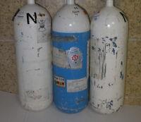 5 Liter Sauerstoffflasche  Ventil  Pressluftflasche 5L Tauchflasche Stahlflasche