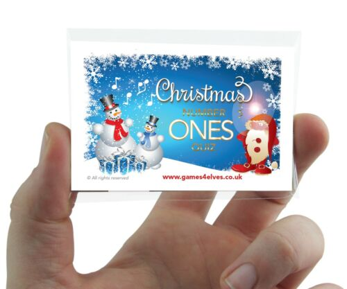 Christmas Number Ones Quiz Card Game Xmas Party Family Work Fun Secret Santa