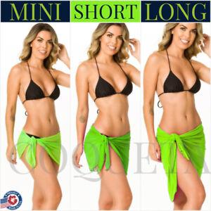 2bf594cdae707 Coqueta sexy Swimwear mint Pareo tiffany NEON GREEN Cover Up sarong ...