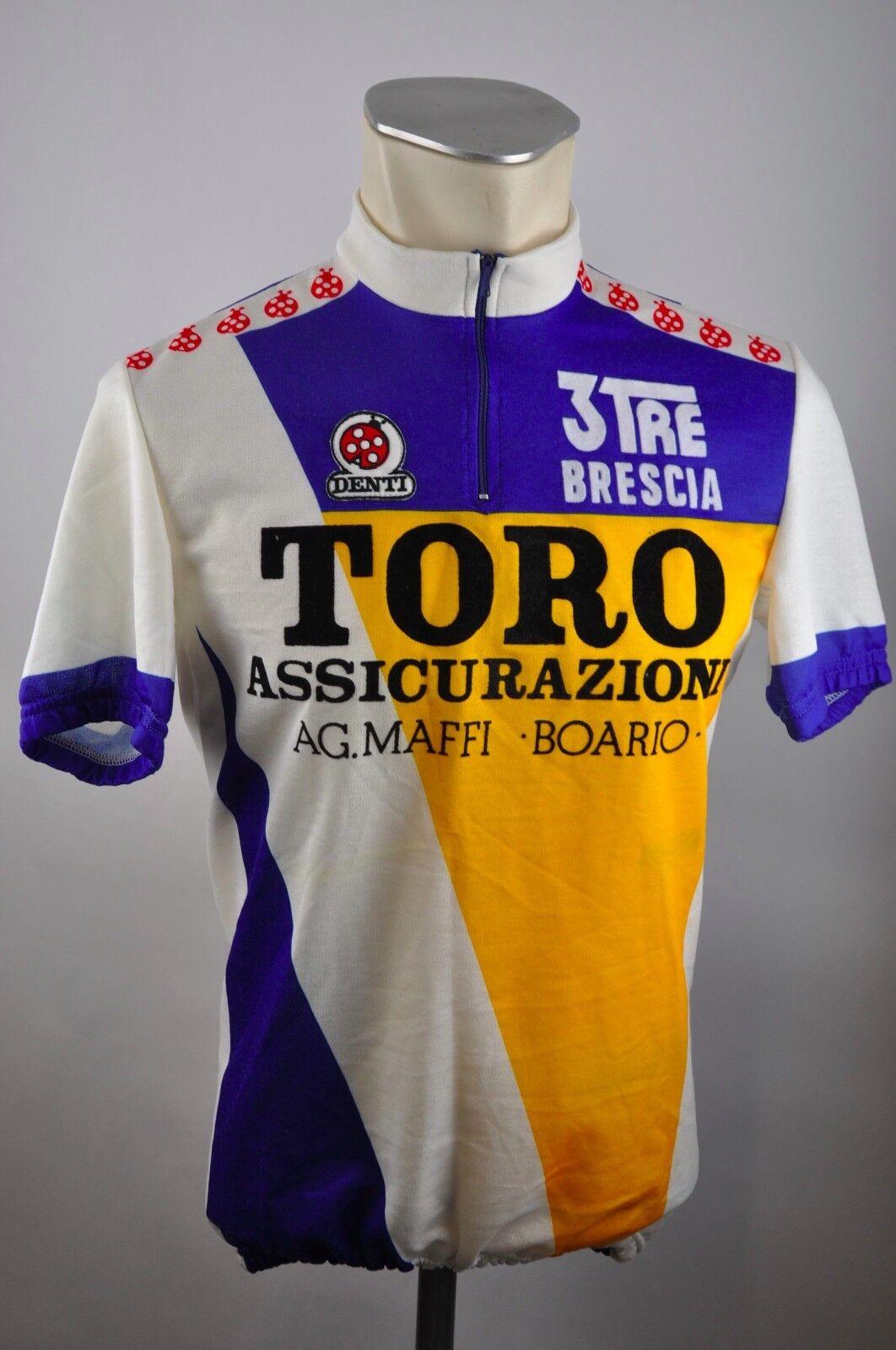 Tgold Assicurazioni Denti Brescia Trikot cycling  jersey maglia Gr M 3 BW 51cm E28  70% off cheap