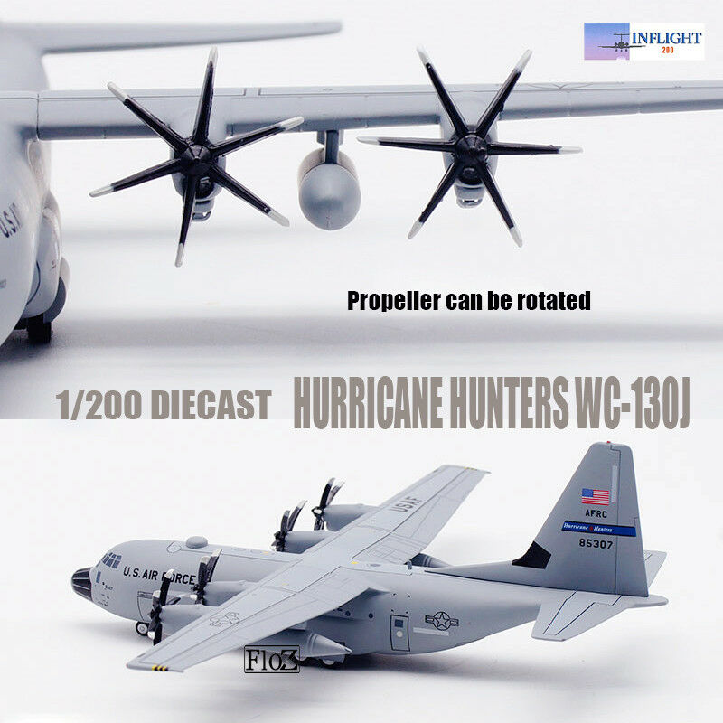 HURRICANE HUNTERS WC-130J Airplane 1 200 DIE CAST Aircraft Inflight plane Model