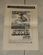 original THE VALLEY OF GWANGI PRESSBOOK Ray Harryhausen dinosaur