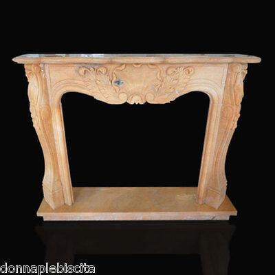 Cornice Caminetto Camino In Marmo Rosa Portogallo Classic Fireplace Marble Frame Ineguale Nelle Prestazioni