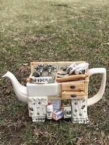 English-Portmeirion-Botanical-Garden-Teapot-Kitchen-Sink-Limited-Edition-5-96