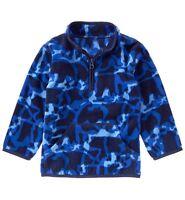 Gymboree Bear Camo Half Zip Pullover Polyester Fleece Boy Clothes Size 6m - 4t
