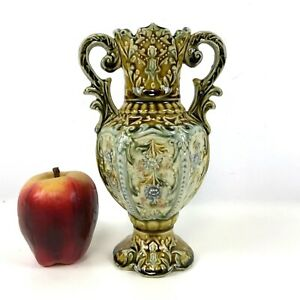 Antique-French-Majolica-Vase