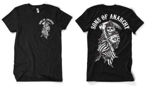 5XL Men/'s T-Shirt 4XL Officially Licensed SOA American Reaper BIG /& TALL 3XL