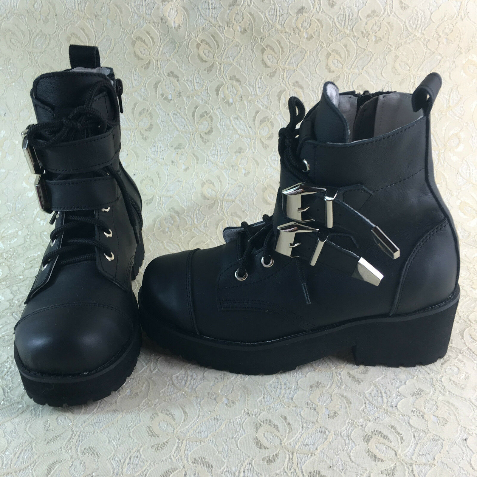 Vintage Gothic Steam-Punk Goth Steam-Punk Gothic Rock mujer zapatos botas botasetten Kostüm Neu 0bed7a