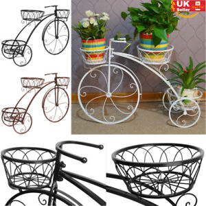 Image Is Loading Bike Shape 3 Position Wheels Garden Planter Stand