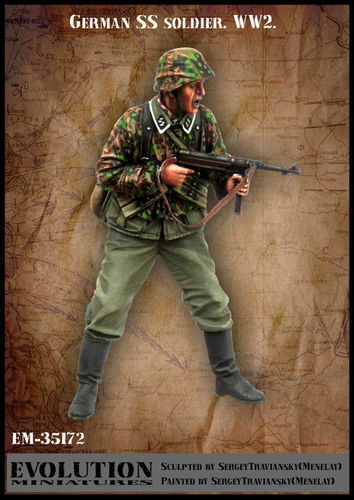 EVOLUTION MINIATURES WWII GERMAN GERMAN GERMAN SS SOLDIER EM35172 1 35 09cbbc