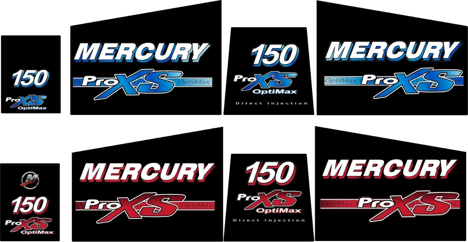 Mercury Pro Xs 150 Decal Kit