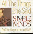 SIMPLE MINDS 45 TOURS GERMANY DON'T YOU (LIVE)