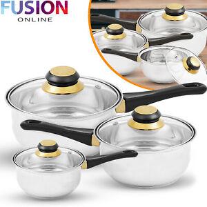 Saucepan-Cookware-Set-Stainless-Steel-Pots-Glass-Lids-Home-Kitchen-6-Piece
