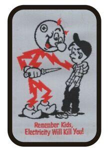 Reddy Kilowatt Sew-On Patch Electricity Mascot