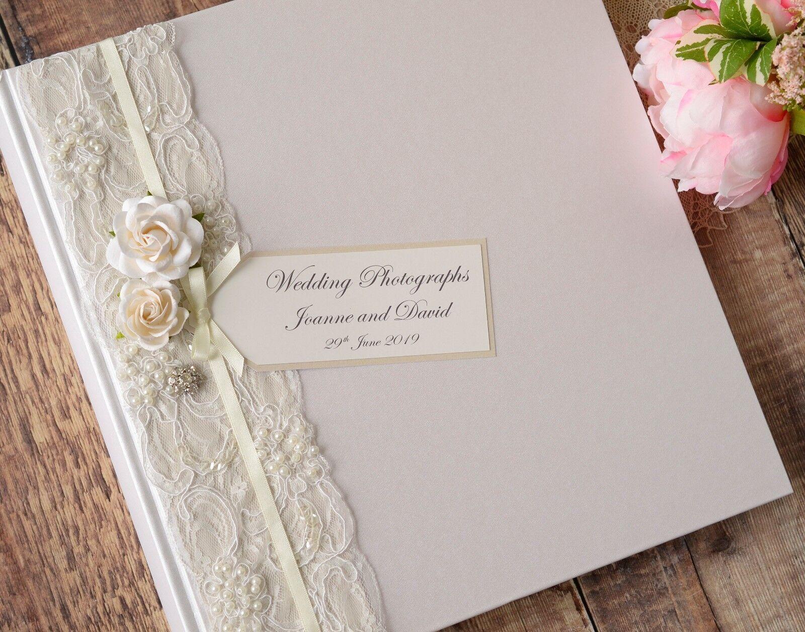 Large Ivory Personalised Wedding Wedding Wedding Photograph Album. 50 Pages   100 Sides. Vintage 5e342b