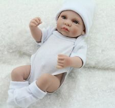 11'' Real Lifelike Reborn Baby Doll Silicone Vinyl Newborn Dolls Boy White US