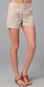 Kleidung & Accessoires Damenmode Nwt Sz 24 Vince Denim Ermüdung Shorts Mit Manschetten 100% Cotton Khaki Price Remains Stable