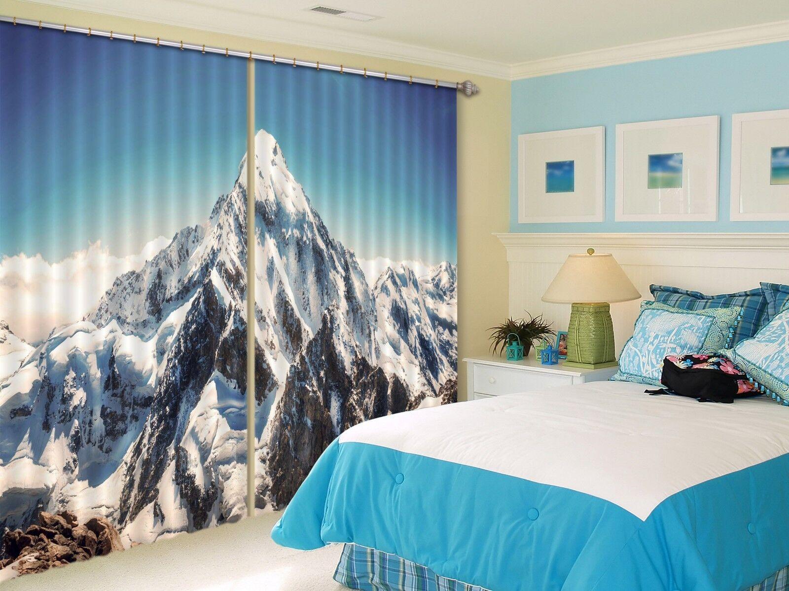 Foto 3D colinas de nieve 9 Blockout Cortina Cortinas De Impresión Tela Cortinas Ventana CA