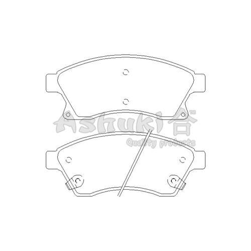 Scheibenbremse  Vorderachse Vorne für Opel ASHUKI J009-50 Bremsbelagsatz