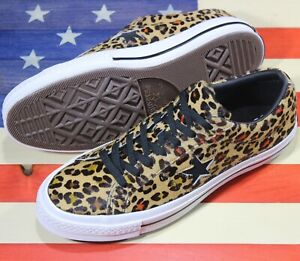 CONVERSE-One-Star-Leopard-Cheetah-Black-White-OX-Low-SAMPLE-Shoes-163386C-sz-9