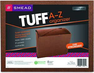 Letter Size A-Z Smead Tuff Expanding File 21 Pockets Redrope 7 Alphabetic