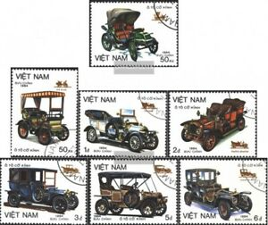 Vietnam-1494-1500-kompl-Ausg-gestempelt-1984-Alte-Autotypen