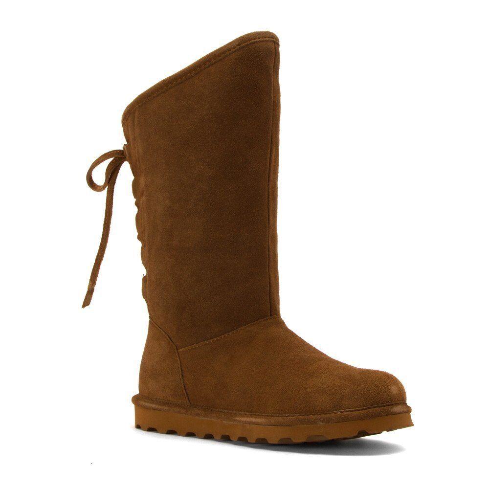 Para mujer botas botas botas de piel Bearpaw phylly Cálido Hickory Gamuza 1955 W 1fbe8e