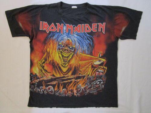 Vintage IRON MAIDEN T-Shirt TEE Shirt 1980's Heavy