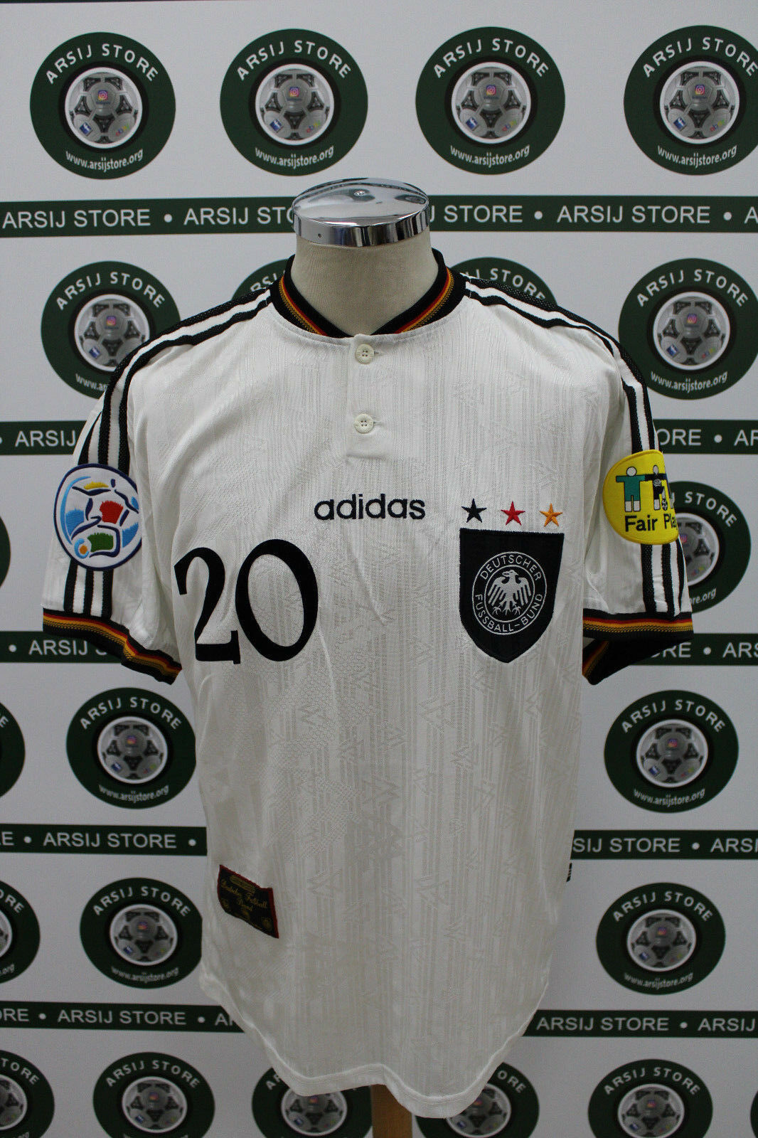 Maglia calcio shirt maillot camiseta trikot GERMANIA BIERHOFF TG L 1996 NO RIPRO