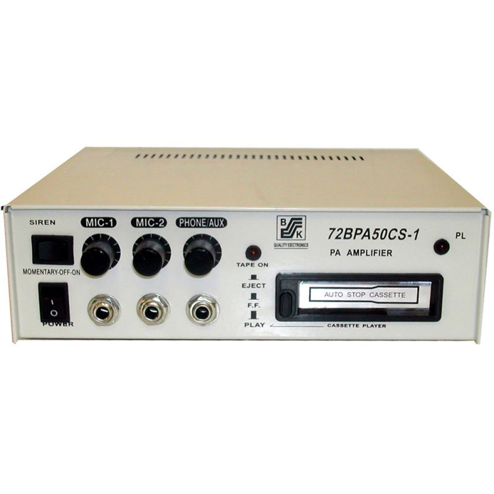 50 Watts Solid-State PA Power Amplifier  12V DC 110 220 DC -72BPA50CS-1