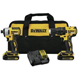 Dewalt-20V-MAX-1-5-Ah-Li-Ion-Drill-And-Impact-Driver-Kit-DCK277C2R-Recon