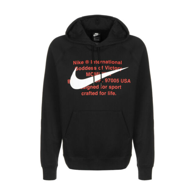 Nike Felpa da Uomo con cappuccio Swoosh Nera Taglia M codice Cj4863 010