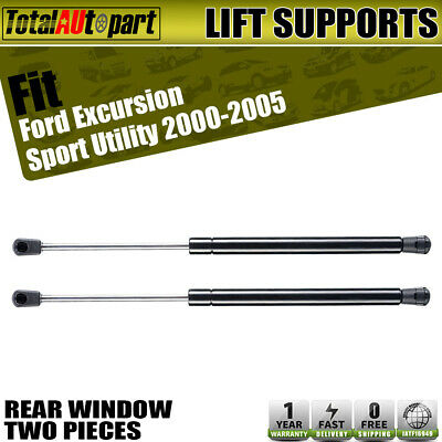 2x Rear Window Lift Supports Struts Spring for Ford Excursion 2000-2005 2WD only