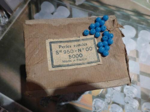 top rare perle en boite émaux de BRIARE BAPTEROSSES  BLEU  5 mm 5000 perles