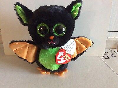 NEW MWMT Ty Beanie Boos BEASTIE the Halloween Bat 6 Inch