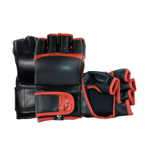 MMA Gloves UFC Sparring Grappling Boxing Fight Punch Ultimate Mitts leather