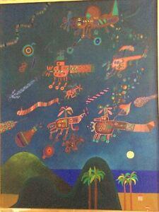Jose-Gamarra-1934-Uruguay-La-Conquete-de-l-039-Espace-huile-toile-2va