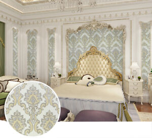Details About Damask Wallpaper Self Adhesive Contact Paper For Living Room Bedroom Bathroom