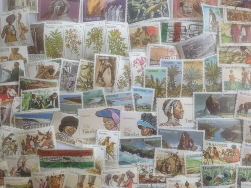 200 Different South Africa Stamp Collection Transkei