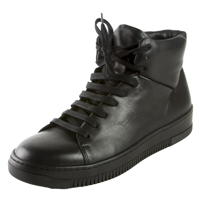 J. LINDEBERG Para Hombre Negro High Top zapatillas  225 Nuevo Sin Caja
