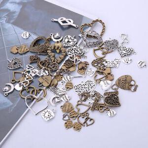50pcs-lot-Vintage-Metal-Mixed-Hearts-Charms-Retro-Love-Pendant-Jewelry-Making
