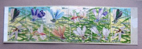Dragonflies /& Damselflies Malaysia Booklet Malaysia MNH - 2000 20v