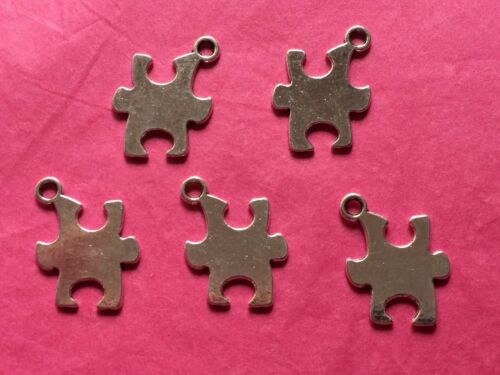 Tibetan Silver Puzzle Piece//Jigsaw Charms 5 per pack Autism Awareness Symbol