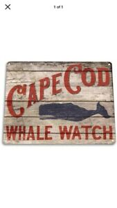 Cape Cod Whale Watching Wood Sign