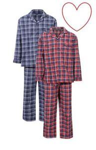 competitive price a4203 86d31 Details zu Herren Baumwolle Pyjama Set Kariert Hausanzug Nachtwäsche  Schlafanzüge