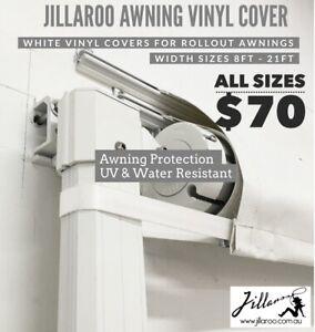 JILLAROO Awning WHITE Vinyl Cover/Protector for 13FT ...