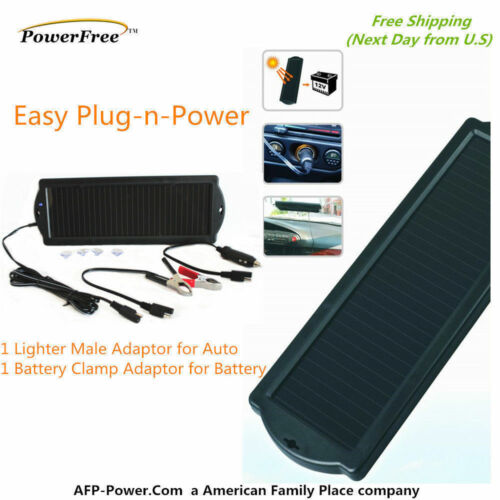 Solar Trickle Charger Car Auto Boat Mower Marine ATV Jet 12V Battery Maintainer