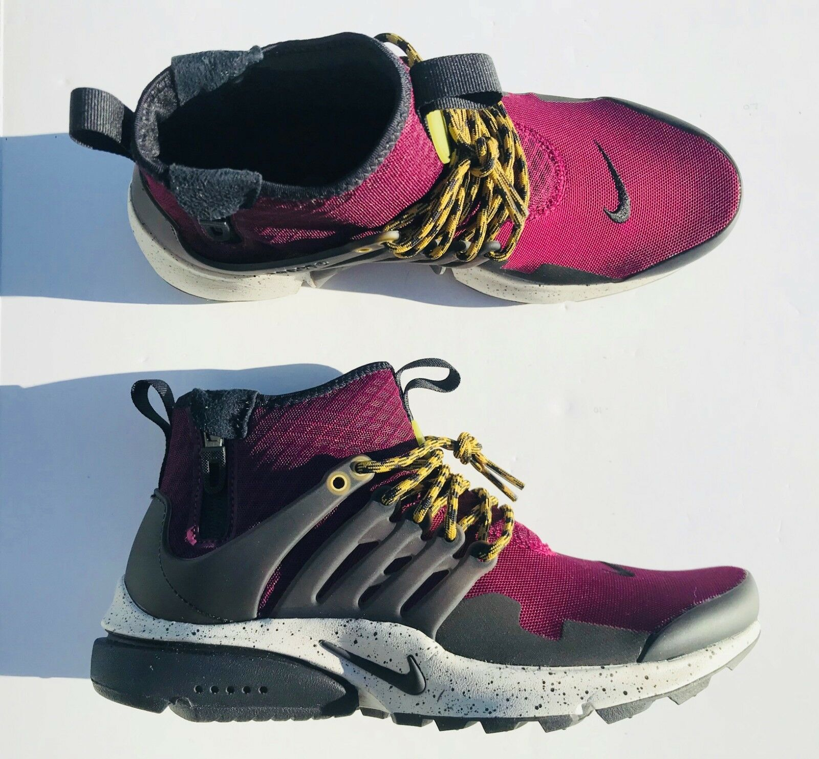 Nike Air Presto Mid Utility shoes 859524-600 Bordeaux Bordeaux Bordeaux Black Men's Size 10 edd362