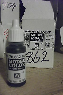 Airbrushing Supplies Black Grey Painting Supplies Systematic Model Hobby Paint 17ml Bottle Val862 Av Vallejo Model Color